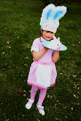 Bunny Chef (boopsie.daisy) Tags: pink cute bunny girl cake easter spring little sweet daughter sadie ears kitsch retro gingham chef