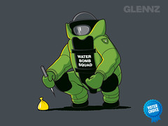 Water Bomb Squad (Glennz Tees) Tags: art nerd water fashion illustration design jones funny geek drawing glenn humor cartoon culture tshirt pop glen adobe illustrator draw squad bomb tee vector ai apparel glenz glennz gleenz glennnz