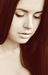 Ave Maria. Pure. (la_farfalla_22) Tags: girls portrait people angel hair blackwhite women faces skin maria lips emotions avemaria blinkagain