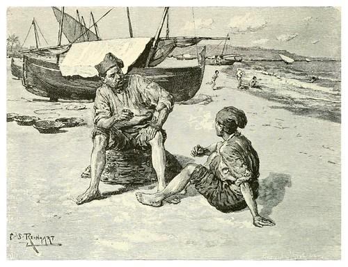 015-Pescadores en Barcelona-Spanish vistas-1883- George Parsons Lathrop