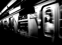 Train (ekraz) Tags: city nyc newyorkcity blackandwhite bw motion speed train subway movement nikon italia action grain fast vogue transportation ftrain vogueitalia italianvogue photovogue ekraz