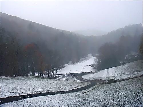 Little Horse Creek Autumn-snow