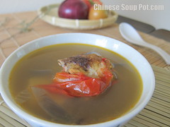 [photo-potato and tomato onion fish soup with ingredients]