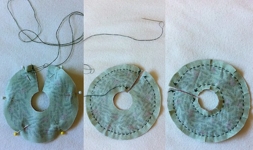 Mini Wreath Ornament construction example part 1
