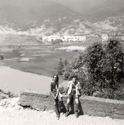 Javier Aranda y Ramon Irisarri en la zona del pantano La Peña