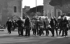 Roma, 15 ottobre 2011 (_Bii_) Tags: blackandwhite bw white black rome roma square nikon strada shadows protest police demonstration protesta procession biancoenero manifestation politica sangiovanni polizia manifestazione manifestante corteo cortege protestation blackblock piazzasangiovanni scontri manifestanti remonstrance d5000 manifestare protestare nikond5000 15ottobre2011 manifestazionediroma