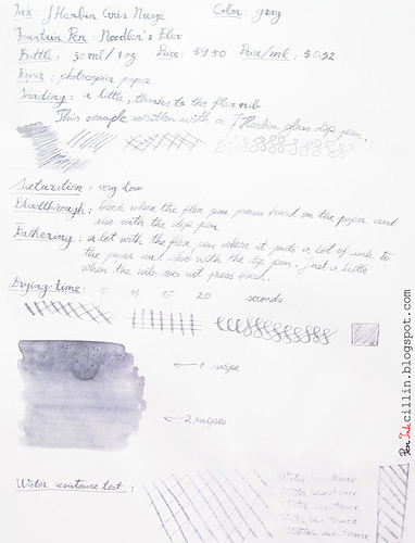 J Herbin Gris Nuage on photocopy