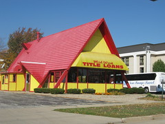 Title Loans (cjbird88) Tags: red yellow illinois bloomington title aframe loans