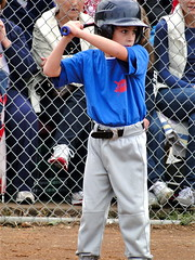 Batter: Ready (spinadelic) Tags: blue boy fall field rock kids fence ball children concentration hit october uniform play pants baseball little helmet gray bat tshirt deputy chainlink dirt junior ready arkansas cubs spectators stance batter stevespencer hitter 2011
