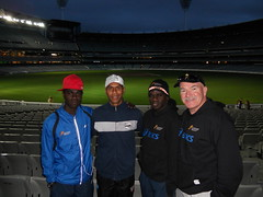 "team at the MCG • <a style=""font-size:0.8em;"" href=""https://www.flickr.com/photos/64883702@N04/6256378026/"" target=""_blank"">View on Flickr</a>"