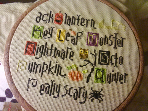 halloween embroidery 1