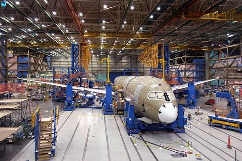 Boeing 787 Dreamliner in construction