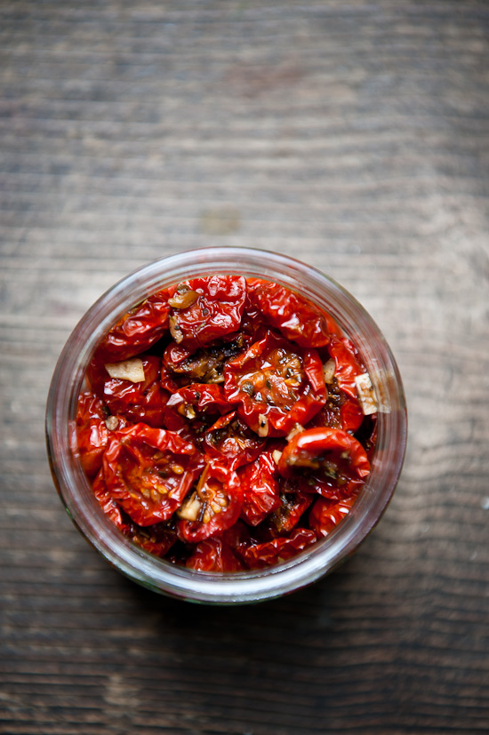 Homemade oven dried cherry tomatoes