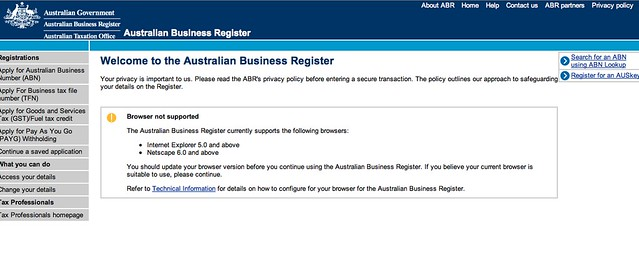 Australia Business Registration #FAIL