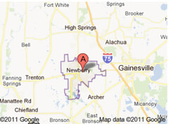 Google map of Newberry 32669