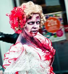 Zombie_Walk_150 (Pardon The Lens) Tags: toronto ontario canada halloween dead scary blood nikon zombie makeup brains gore undead downtowntoronto zombiewalk torontozombiewalk tzw nikond90 102211 zombiewalktoronto braindrive torontozombiewalk2011 oct2211 tzw11 tzw2011