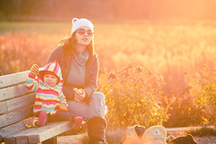 Fall Glow (iFlook) Tags: autumn wisconsin madison indianlake goldenlight momanddaughter londa effy nikkorp105mm iflook