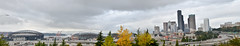 Panoramique Seattle in Fall (Farzad) Tags: seattle panorama field skyline america bacon downtown hill bank safeco qwest mygearandme centurylink ringexcellence blinkagain