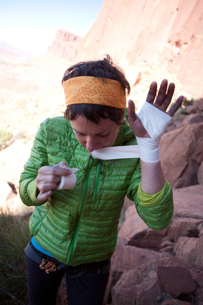 Tape glove ritual