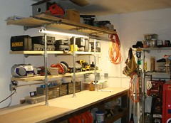 Man Cave Shelving Upgrade (Simplified Building Concepts) Tags: shelf workshop kee klamp