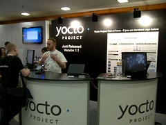 The Yocto Project booth at Embedded Linux Conf Europe