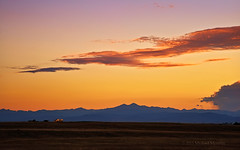 Truckin' into a Colorado Front Range Sunset (Fort Photo) Tags: light sunset sky mountain mountains nature truck skyscape landscape rockies nikon colorado dusk weld semi co rockymountains meeker frontrange cloudscape trucking longs clff d700