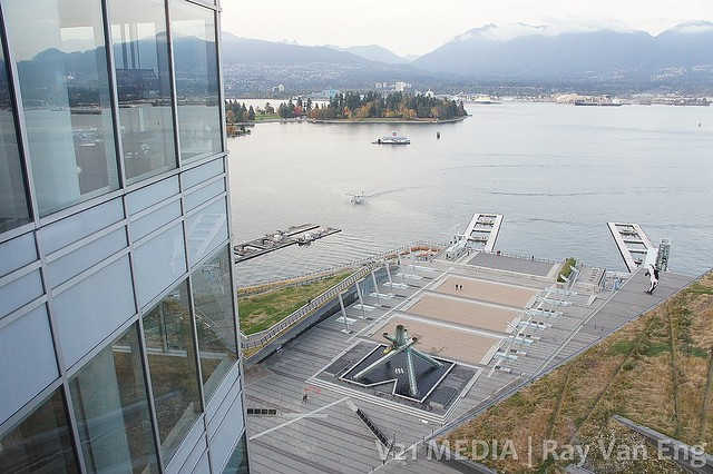 View From 17th floor of the Shaw Tower in Vancouver. Premier Christy Clark Aims at Creating More Jobs for BC In Upcoming Trade Mission to China and India