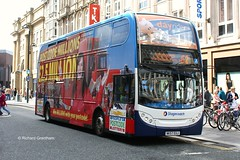 Stagecoach in Newcastle 19162, NK57EUJ. (EYBusman) Tags: city bus newcastle coach centre postcode tyne wear lottery 400 advert alexander dennis stagecoach enviro overall busways eybusman nk57euj