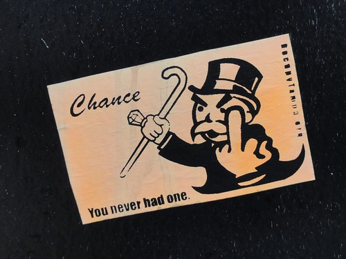 Monopoly card sticker