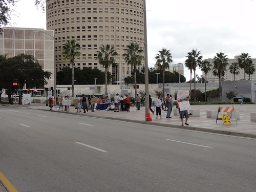 Occupy Tampa takes to the street
