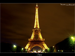 Eiffel Tower (bartholowaty | Photography) Tags: trip architecture night canon long exposure shot landmark 2011 60d