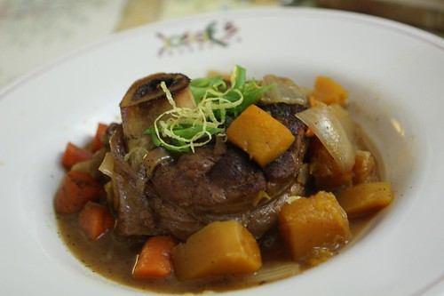 Dogfish Head Punkin Ale Braised Osso Busso with Green Onion Gremolata