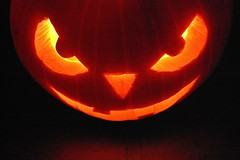 Evil Pumpkin (DaveJC90) Tags: light orange black detail eye halloween face yellow tooth mouth dark pumpkin nose eyes october candle bright teeth evil sharp 31st sharpness 2011 mygearandme ringexcellence bestofblinkwinners