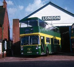 AF 3 Godstone Bus Garage 1972 (national_bus_510) Tags: nbc godstone nationalbuscompany londoncountry northerncounties ncme daimlerfleetline afclass lcbs crl6 jpk103k