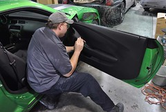 "2011 Synergy Green Camaro 5th Gen custom door panel install • <a style=""font-size:0.8em;"" href=""http://www.flickr.com/photos/85572005@N00/6303465758/"" target=""_blank"">View on Flickr</a>"