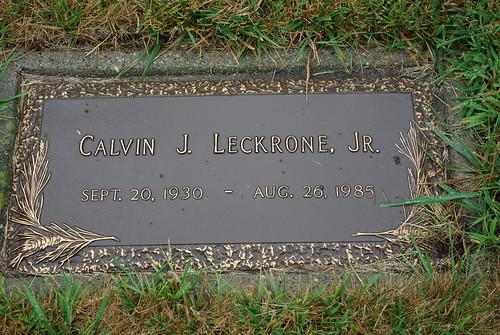 Calvin J. Leckrone Jr. marker