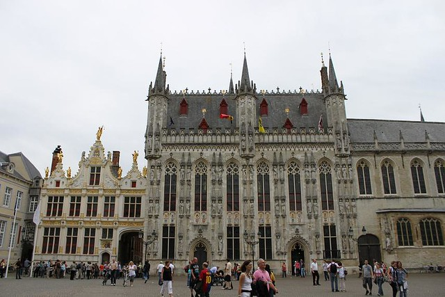 Town Hall Bruges with beautiful decoration