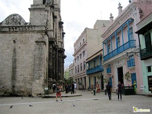 San Francisco Park and Cathedral Havana Vieja Cuba
