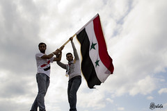 سوريتي (Sulafa) Tags: rally syria سوريا syrianflag العلمالسوري blinkagain مسيرةطرطوسtartous