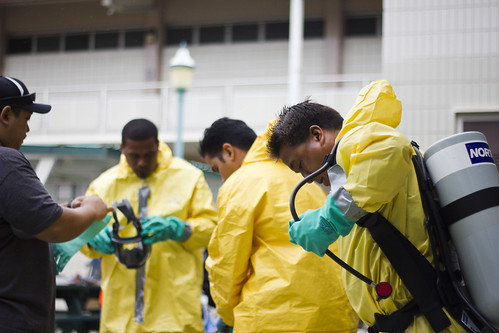 HAZMAT Suits, HCC Safety Class Final Exa by MattUrsua, on Flickr