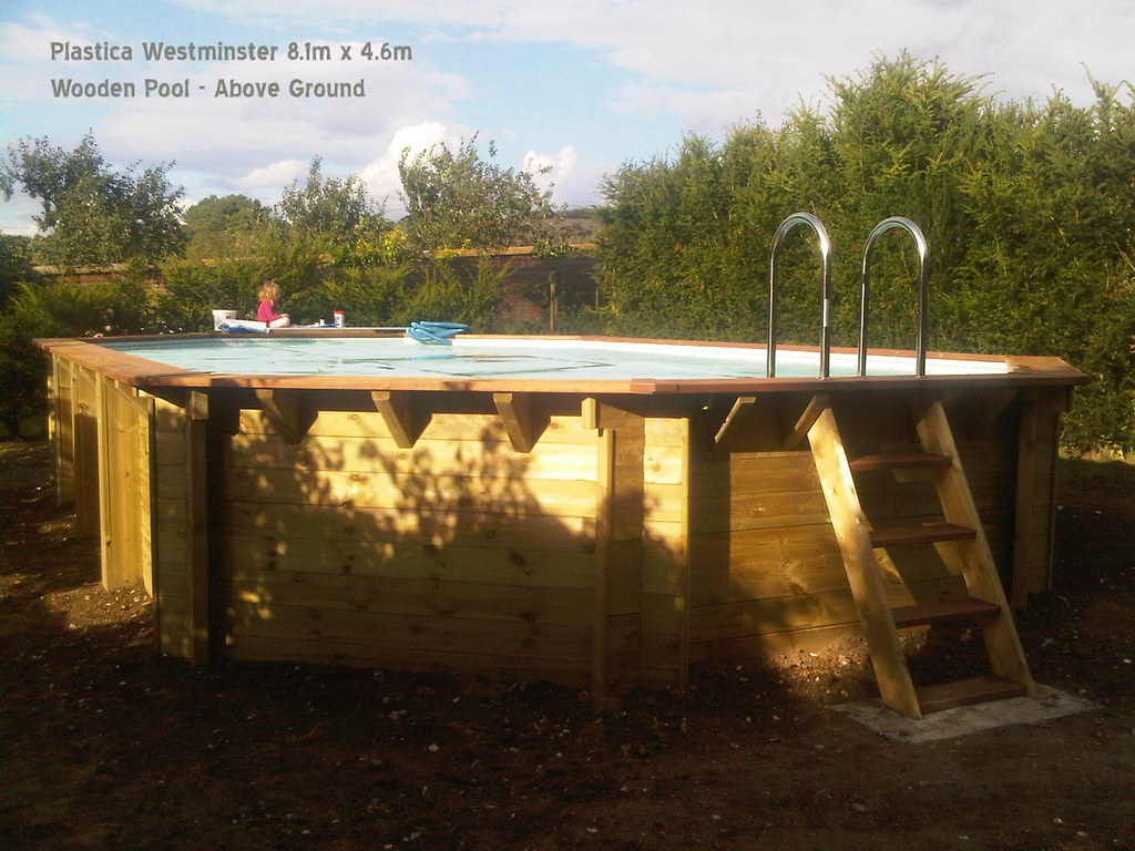 Plastica Wooden Above Ground Pool 8.1m x 4.6m