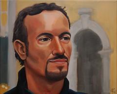 Stefano (Franco Coluzzi) Tags: portrait male face painting painted uomo ritratto viso stefano faccia maleri portrt volto dipinto maschile