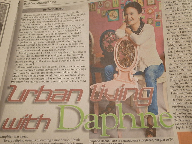 Featured in Philippine Star yesterday