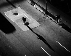 frogger (.insomniac) Tags: street shadow crossing detroit frogger