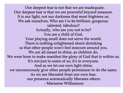 Fear Quote By Marianne Williamson