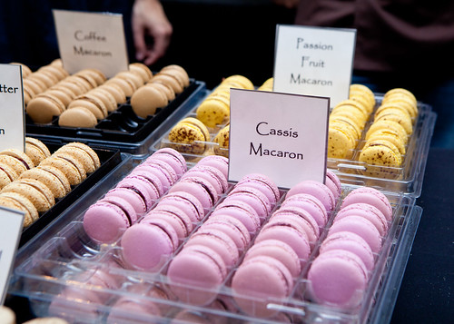 Francois Payard's Cassis and Passion fruit macarons