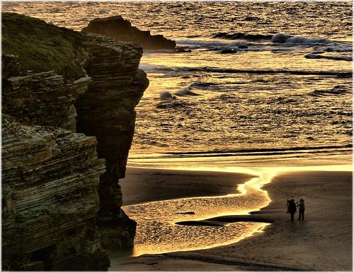 無料写真素材, 自然風景, 海, ビーチ・海岸, 人物  海, 崖, 風景  スペイン