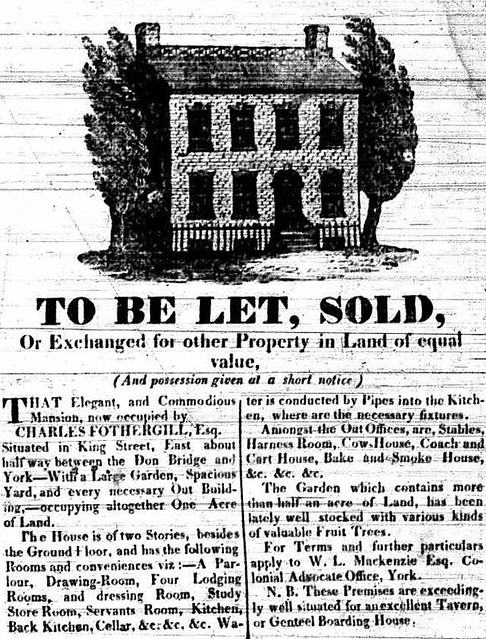 Vintage Ad #1,7XX: Real Estate Ad, 1826 - Charles Fothergill