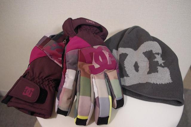 DC SHOE glove & beanie