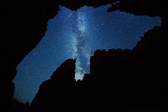 "Stars over Wall Street - Bryce Canyon (IronRodArt - Royce Bair (""Star Shooter"")) Tags: park street sky nature silhouette wall night dark way stars evening twilight shiny long exposure heaven glow shine nightscape time dusk infinity space deep twinkle canyon astro sparkle galaxy national astrophotography planet bryce astronomy wallstreet brycecanyon universe exploration milky narrow cosmic starry cosmos constellation steep distant milkyway starlight brycecanyonnationalpark navajoloop starrynightsky"